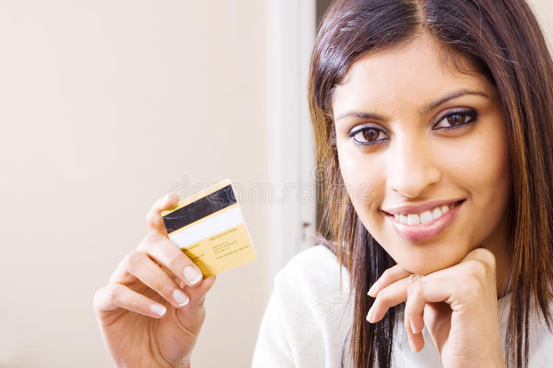 Download Credit card woman stock photo. Image of girl, bill, adult - 10311450