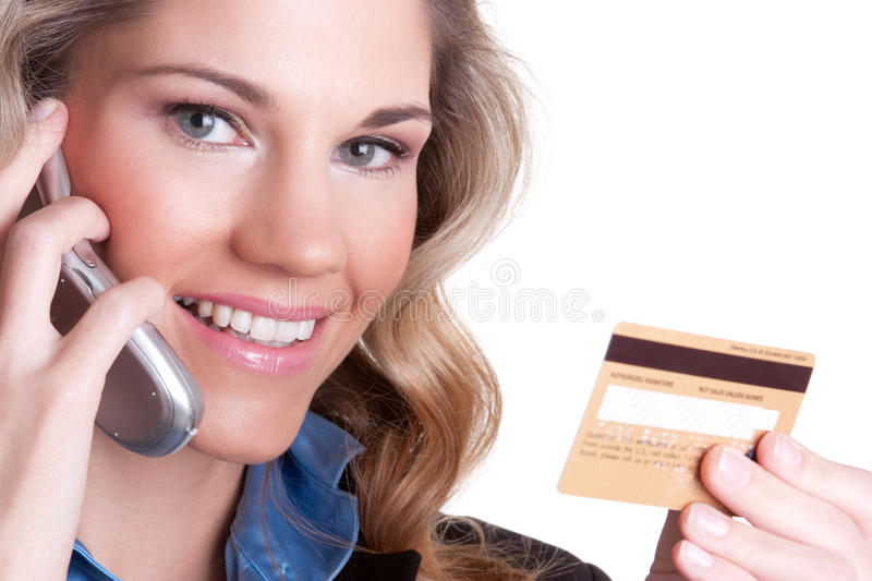 Credit Card Woman royalty free stock photography