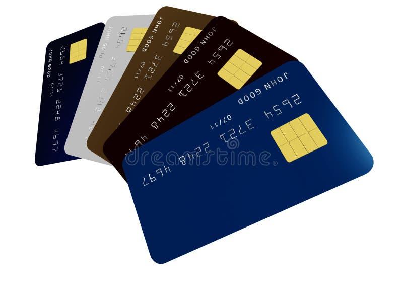 Credit cards stock illustration