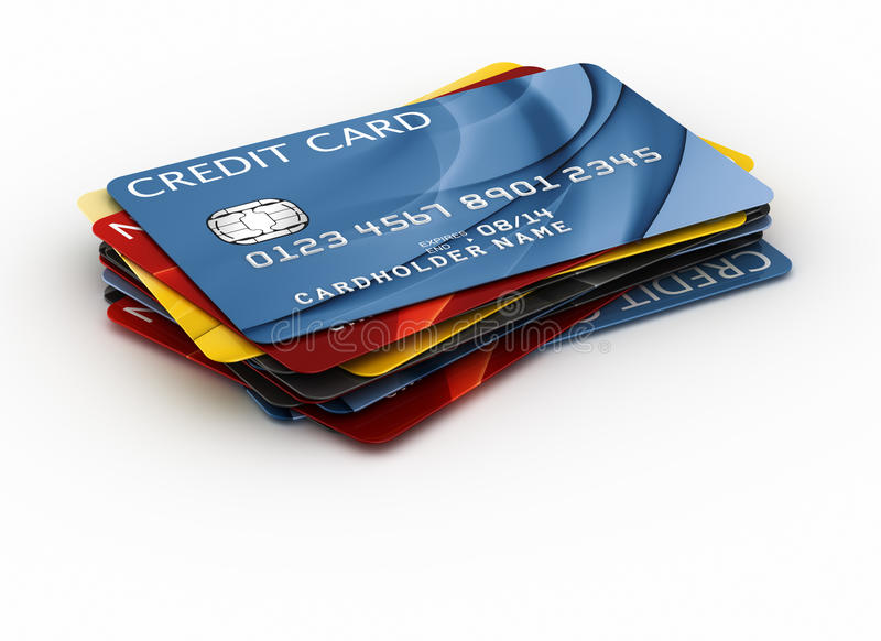 Credit cards. 3d rendering of a credit cards