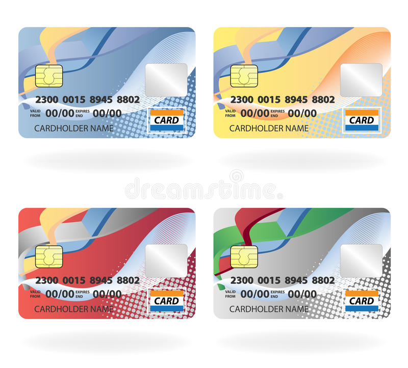 Credit cards. Vector illustration of credit cards royalty free illustration