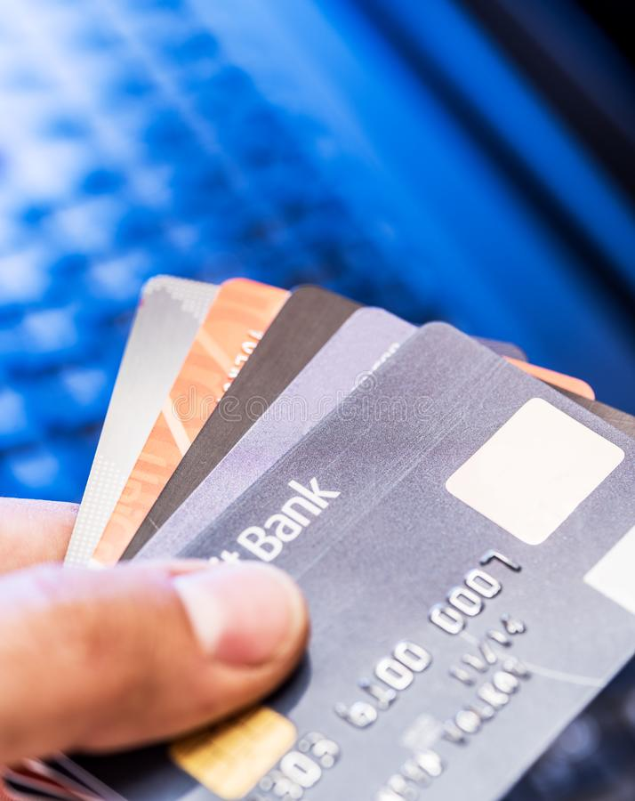 credit cards financial business background stock image