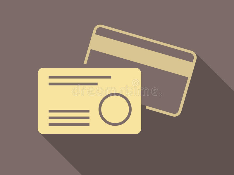 Credit Cards. Flat Design. Credit Cards. Vector Graphics EPS 10