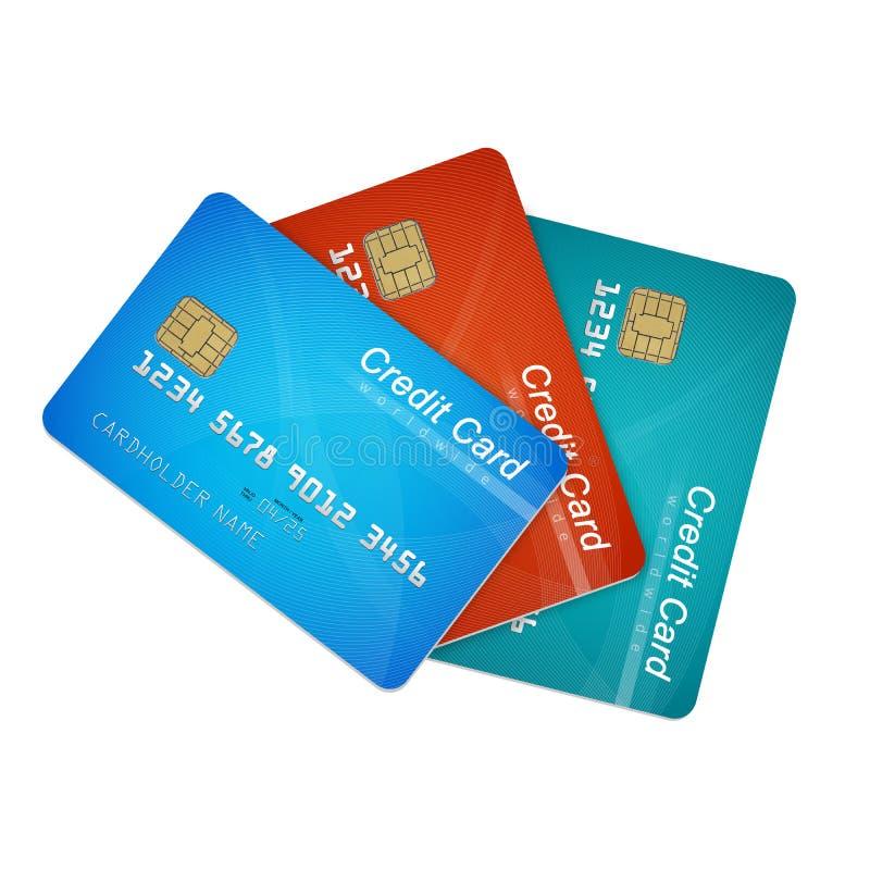 Credit cards vector illustration
