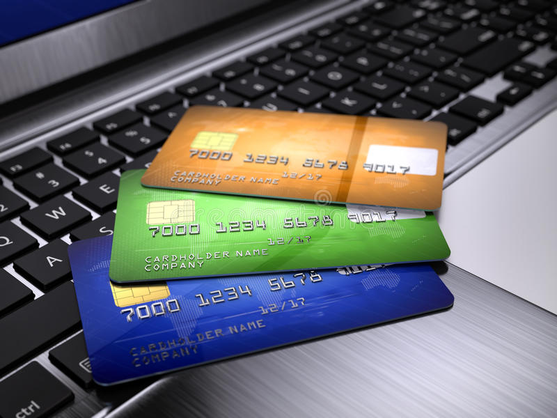 Credit Cards stock illustration