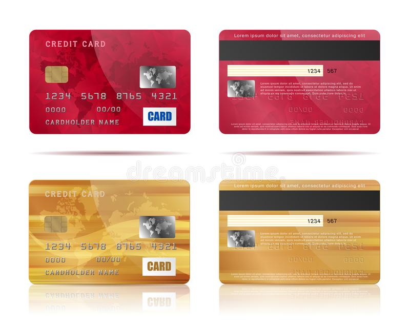 Credit cards set stock photo