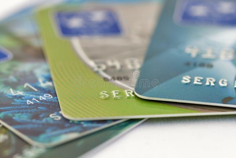 Download Credit cards set macro stock image. Image of individuality - 32468535