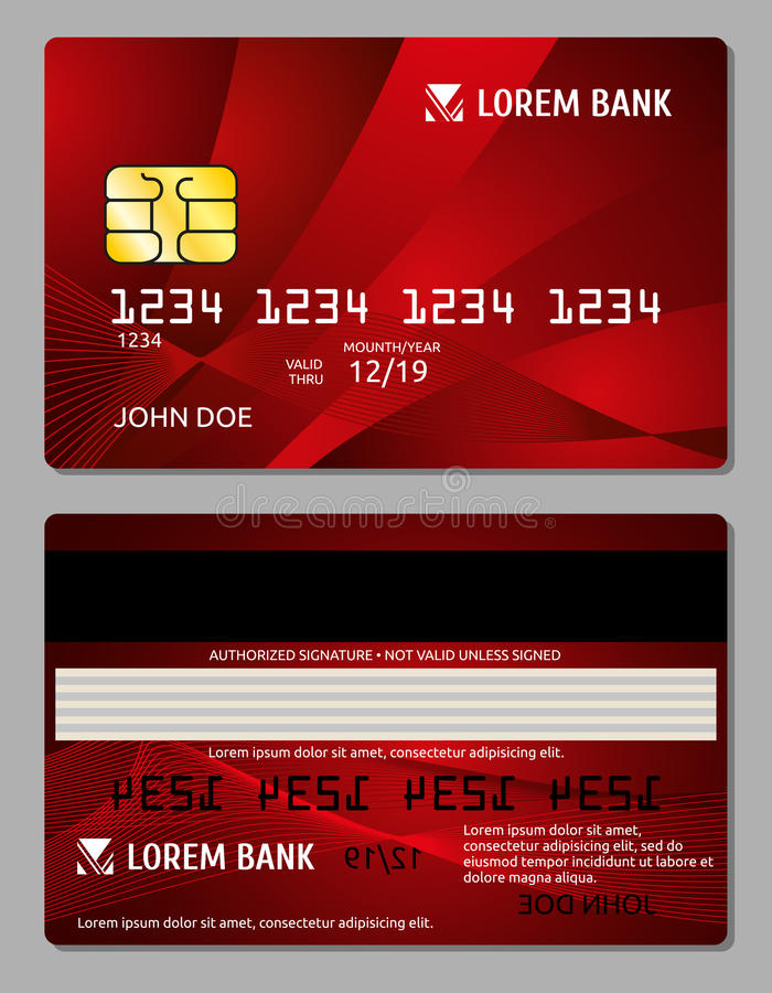 Credit Cards Two Sides Design Vector Illustration For Your Business ...