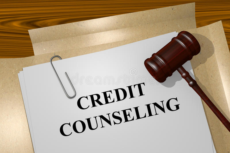 Credit counseling concept royalty free stock images