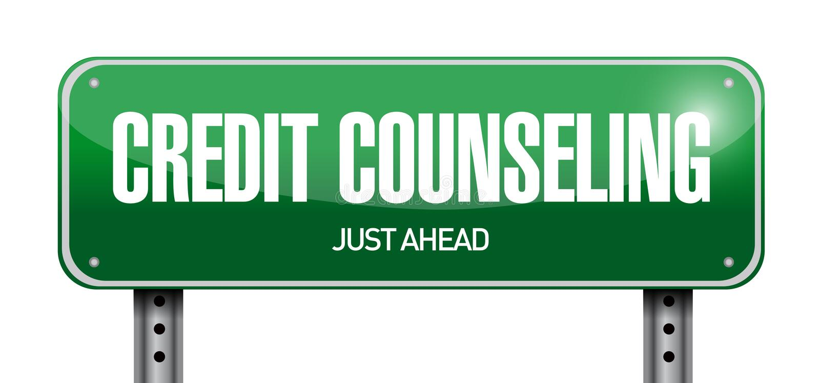 credit counseling sign illustration design stock photos