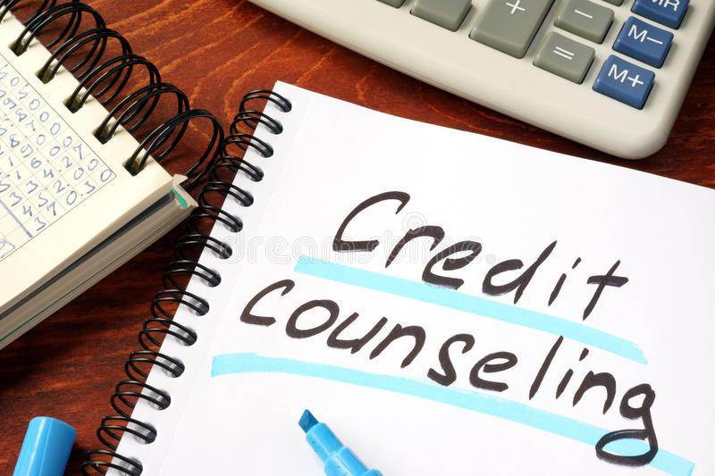 Credit counseling. royalty free stock photography
