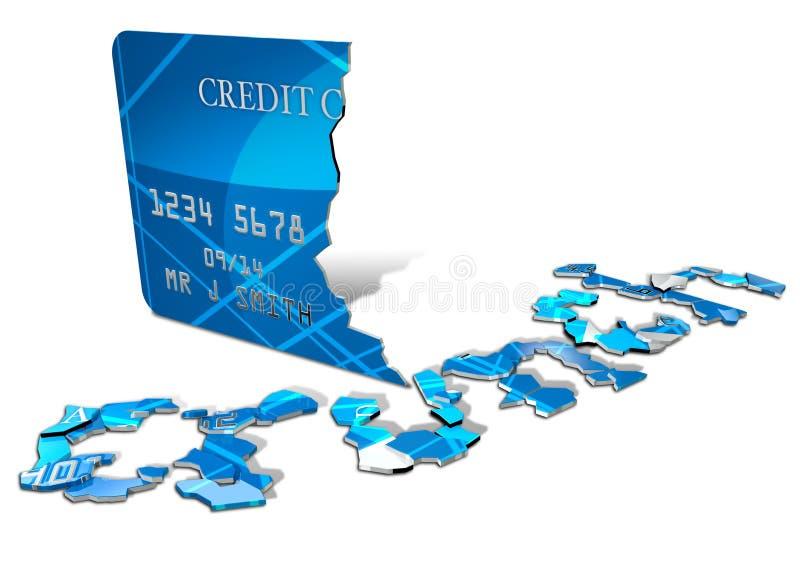 Download Credit Crunch Card stock illustration. Image of concept - 29476564