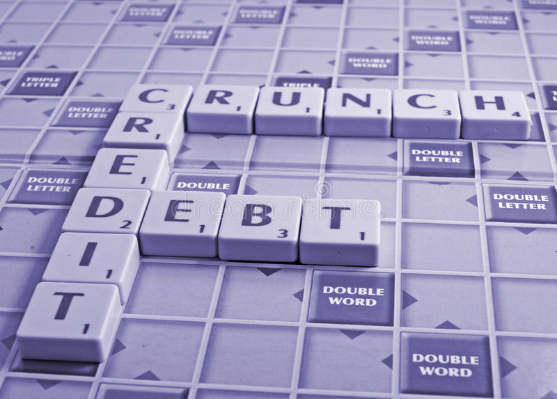 credit crunch and debt stock photography