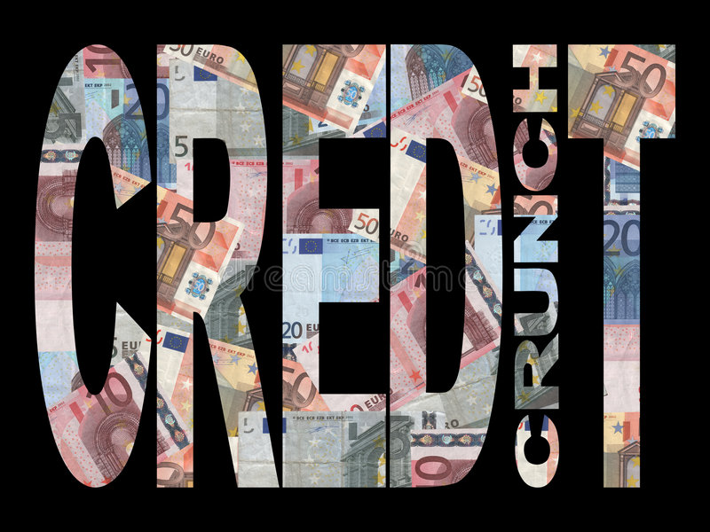 Credit Crunch with Euros royalty free illustration