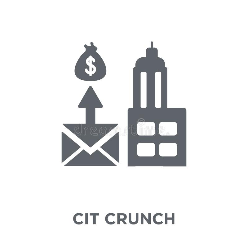 Credit crunch icon from Credit crunch collection. royalty free illustration