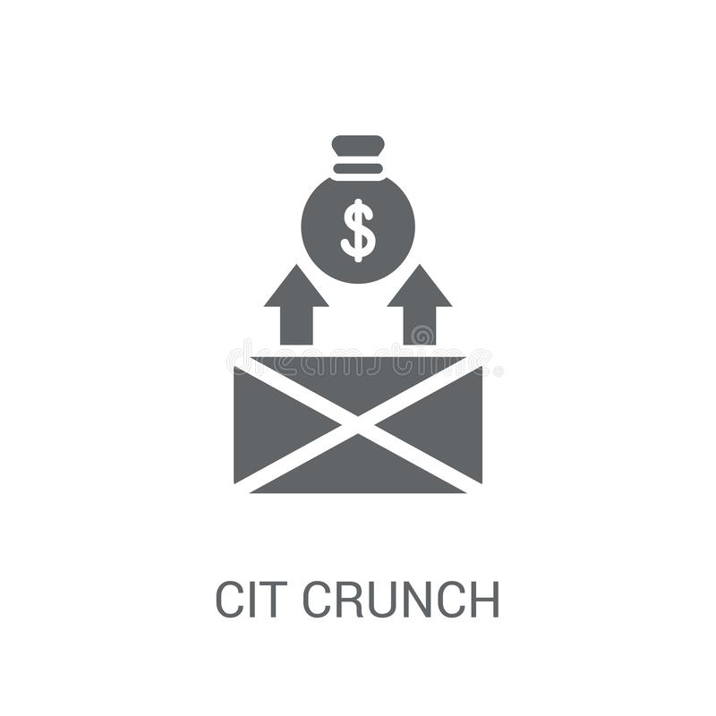 Credit crunch icon. Trendy Credit crunch logo concept on white b vector illustration