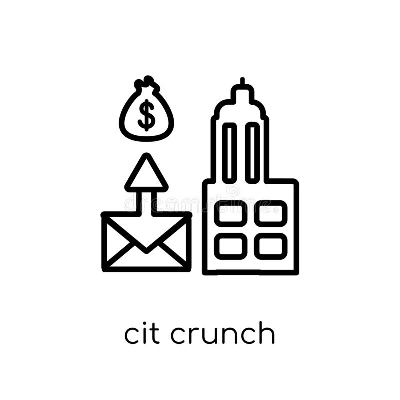 credit crunch icon. Trendy modern flat linear vector credit crunch icon on white background from thin line Credit crunch vector illustration
