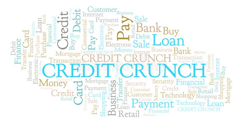 Credit Crunch word cloud. royalty free illustration