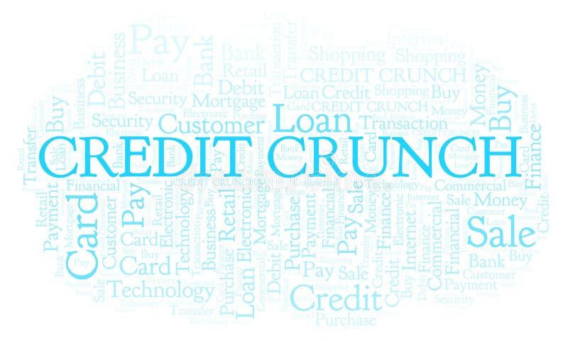 Credit Crunch word cloud. stock illustration