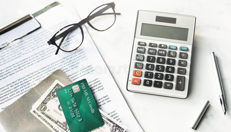 Credit Debit Card Financial Money Paying Balance Concept stock photo