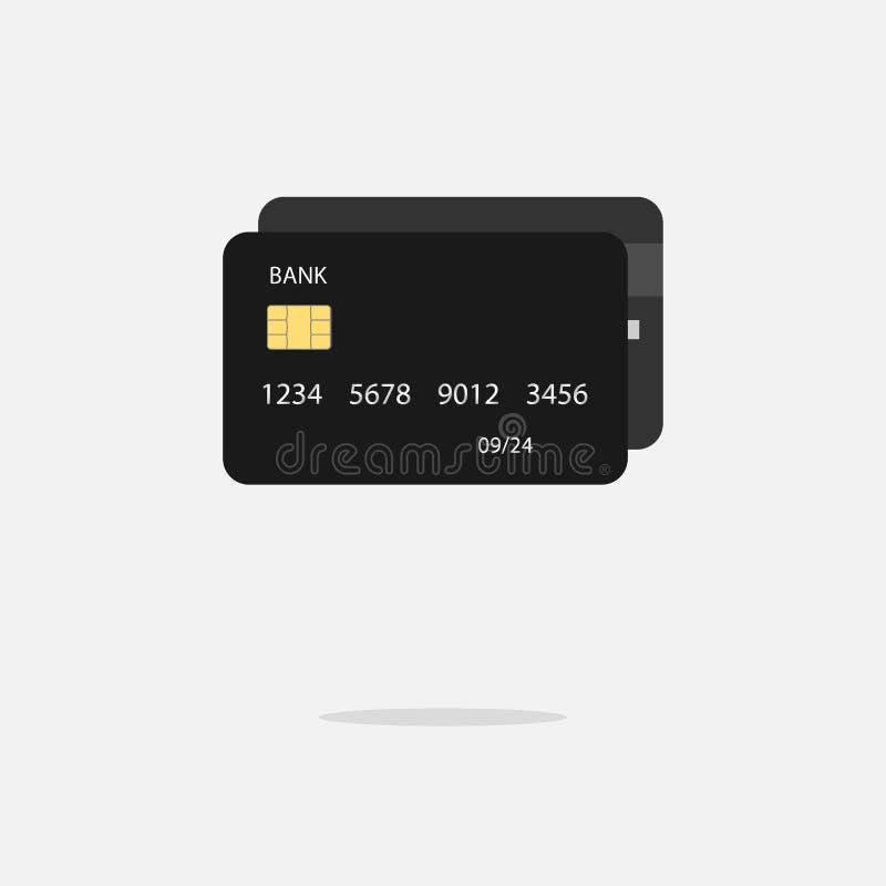Credit debit card mockup. Business concept. royalty free illustration