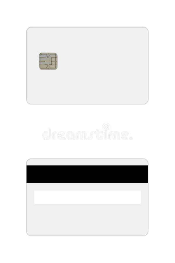 Credit Debit Card Template Stock Image Image Of Blank