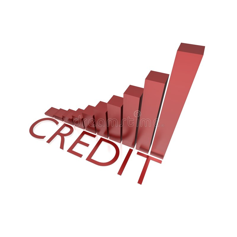 Credit Growing Chart Royalty Free Stock Photos