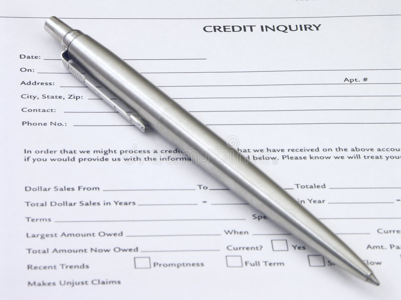Credit Inquiry royalty free stock photos