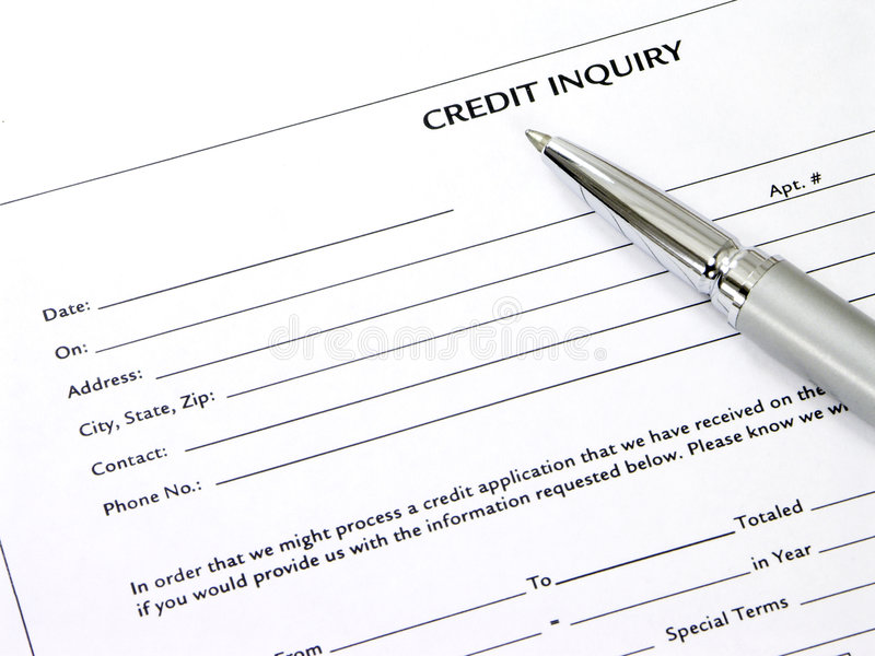 Download Credit Inquiry Form stock image. Image of dollar, finance - 1212061