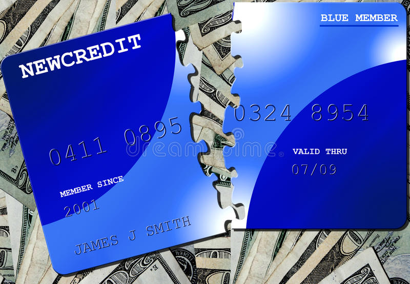 Download Credit Puzzle stock illustration. Image of background - 15084422