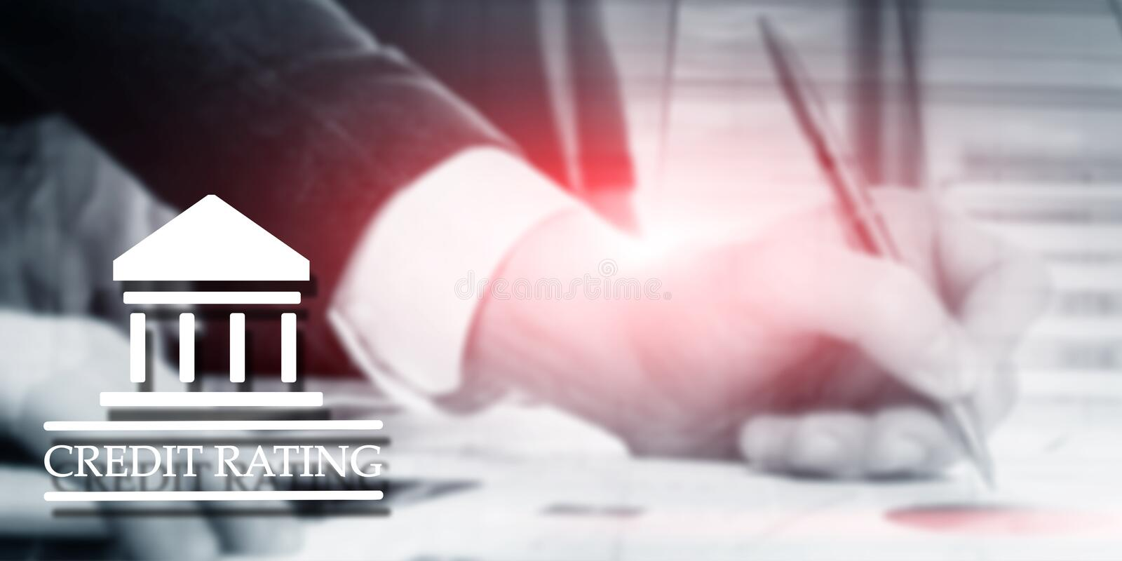 Credit Rating. Finance banking investment concept. Abstract background.  stock image