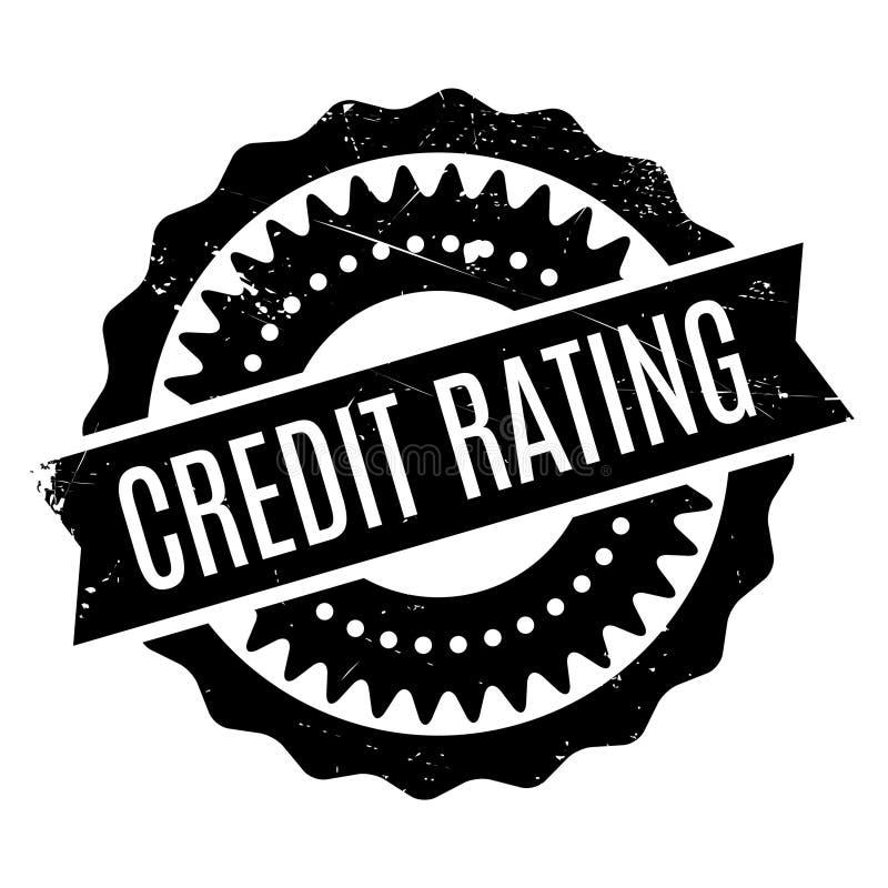 Credit Rating rubber stamp stock illustration