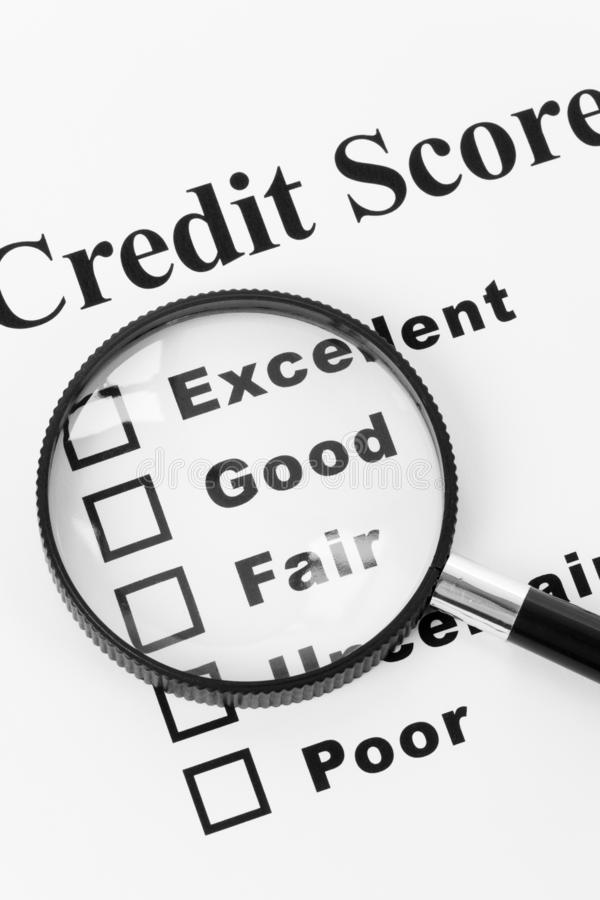 Free Credit Score Document Royalty Free Stock Images - 128867129