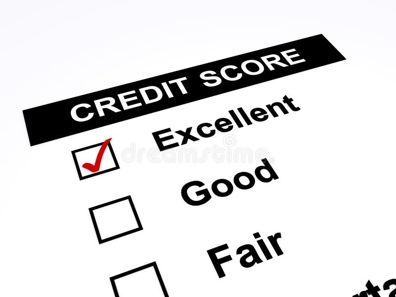 Credit score stock illustration