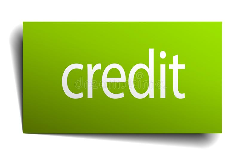Credit sign. Credit square paper sign isolated on white background. credit button. credit vector illustration
