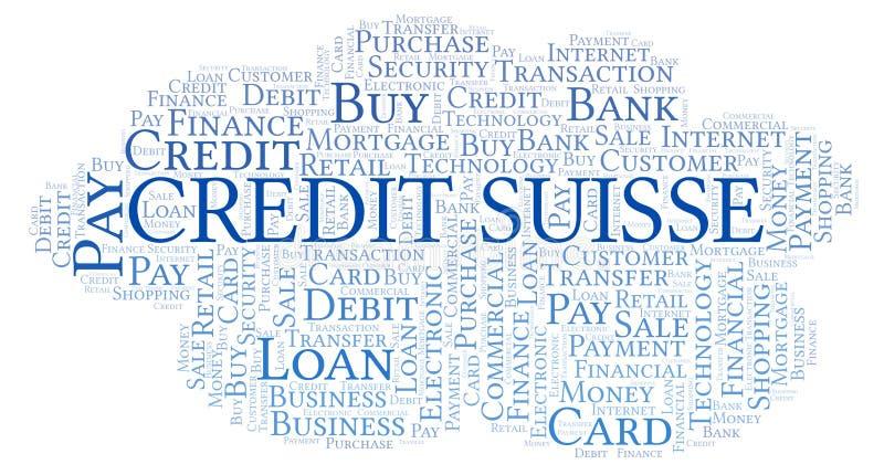 Credit Suisse formułuje chmurę ilustracji