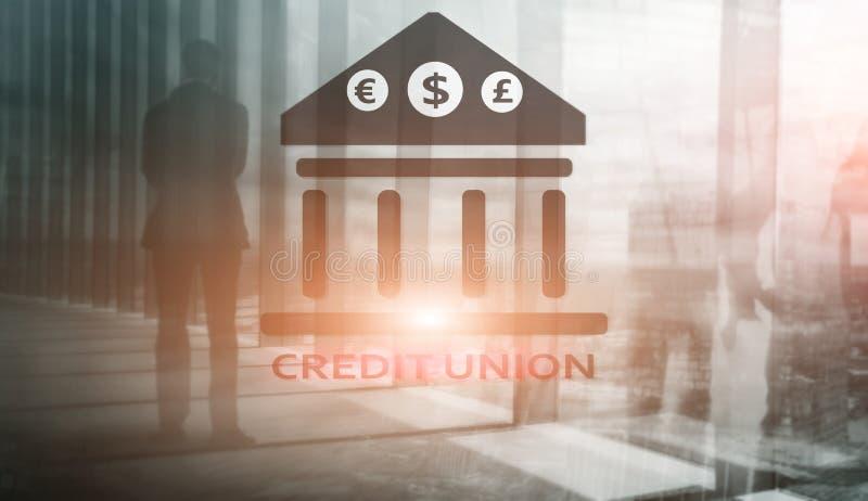 Credit Union De financi?le behulpzame bankwezendiensten De abstracte achtergrond van financi?n royalty-vrije illustratie