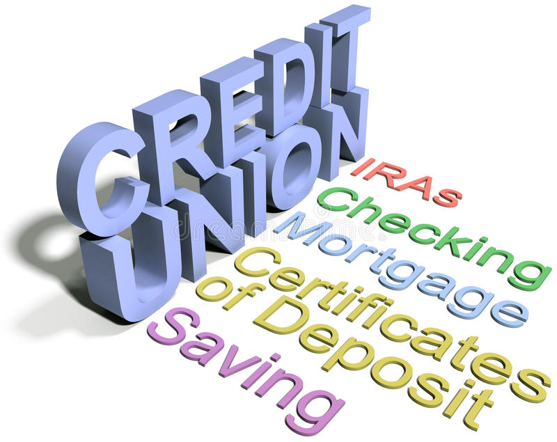 Credit Union Financial Business Services Stock Illustration