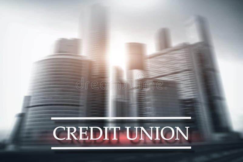 Credit Union Services bancaires coop?ratifs financiers Fond abstrait de finances image stock