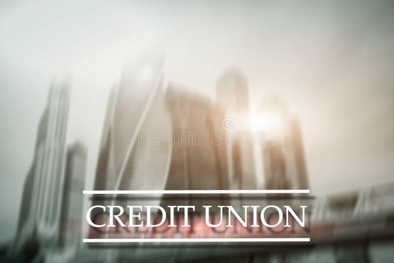 Credit Union Services bancaires coop?ratifs financiers Fond abstrait de finances photographie stock