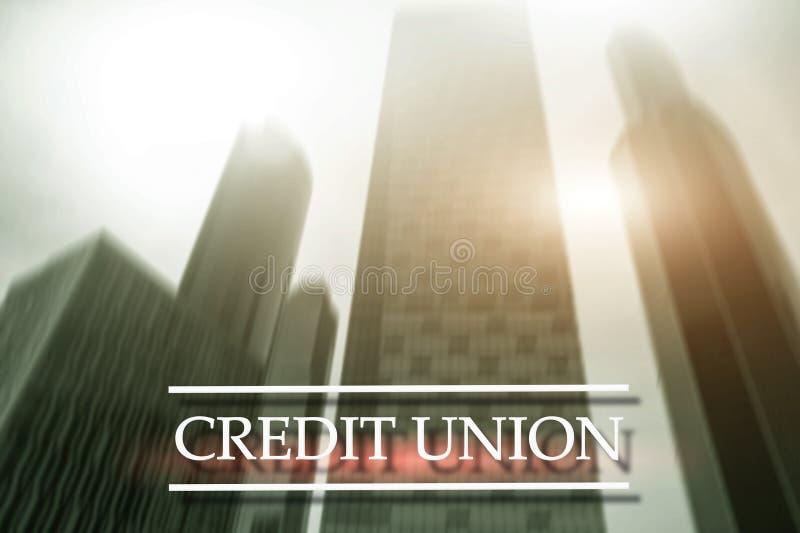 Credit Union Services bancaires coop?ratifs financiers Fond abstrait de finances image libre de droits