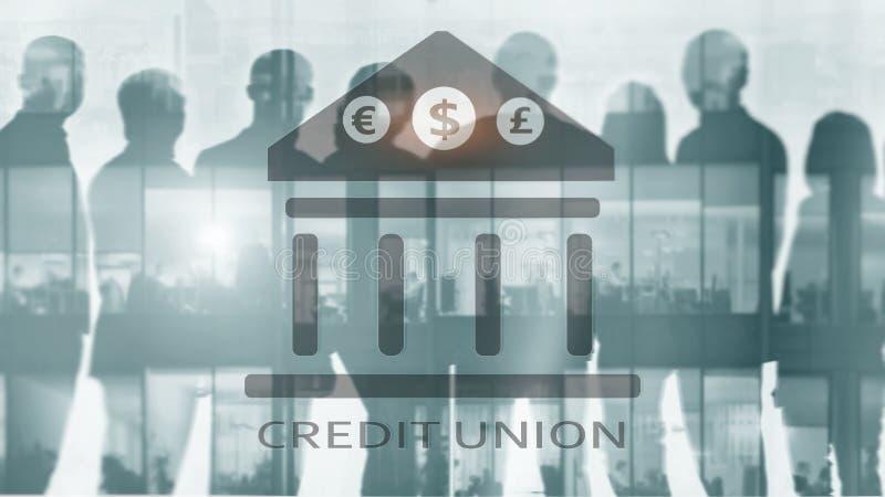 Credit Union Servicios bancarios cooperativos financieros Fondo abstracto de las finanzas fotos de archivo libres de regalías