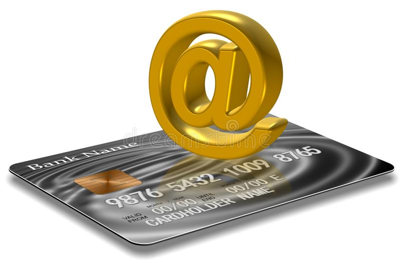 Creditcard bij symbool royalty-vrije illustratie
