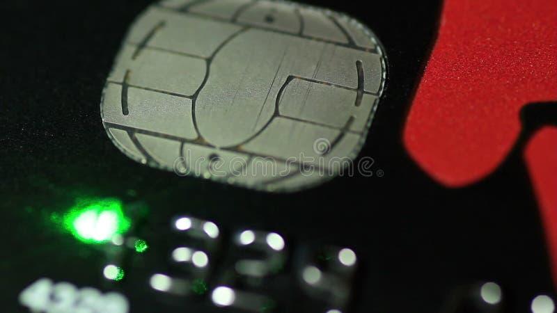 Creditcard en laser stock videobeelden