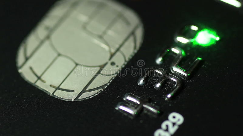 Creditcard en laser stock footage