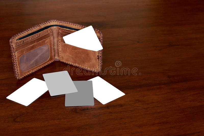 Creditcard et portefeuille image stock