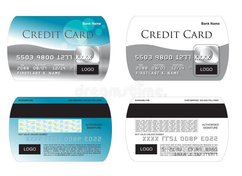 creditcard illustrationvektor vektor illustrationer