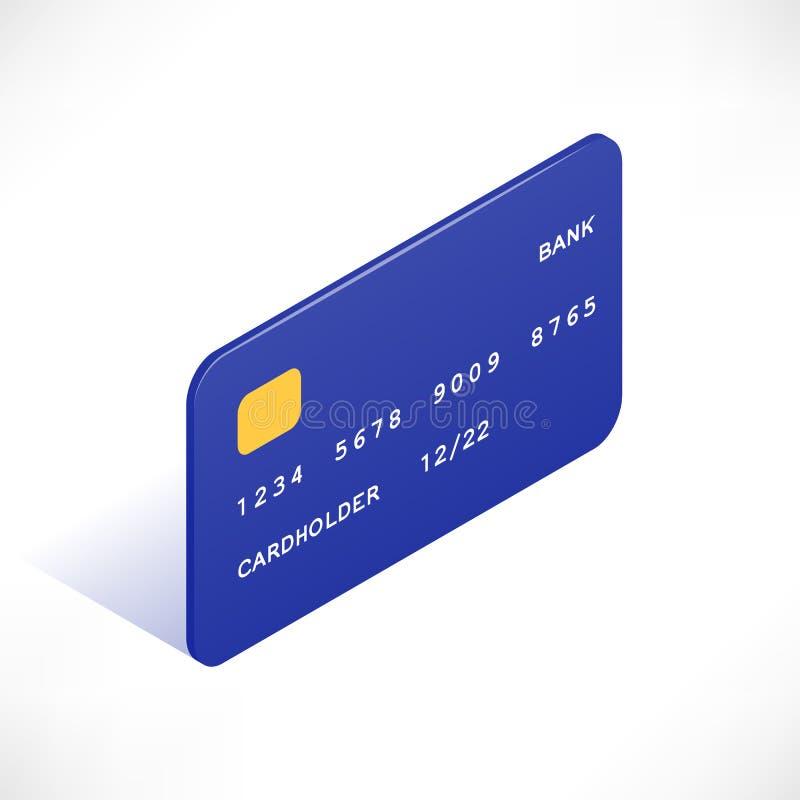 Creditcard isometrisch pictogram stock illustratie