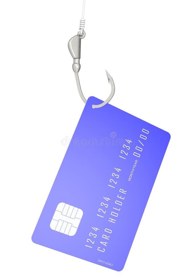 Creditcard met haak vector illustratie