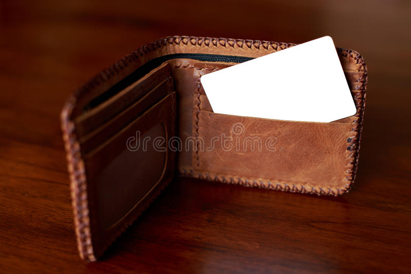 Creditcard & wallet royalty free stock photos